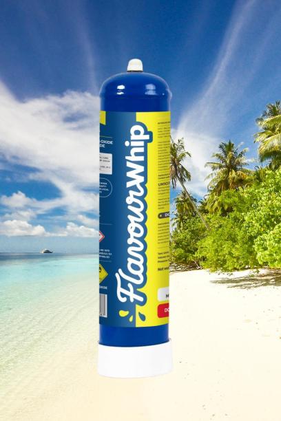 Flavourwhip lachgas op het strand