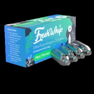 Motifs de crème fouettée avec la saveur de menthe freshwhip